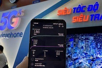 Trải nghiệm tốc độ mạng 5G Vinaphone tại Hà Nội và Thành phố Hồ Chí Minh