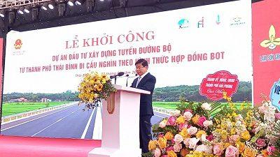 Thái Bình: Khởi công tuyến đường bộ gần 2.600 tỷ đồng.