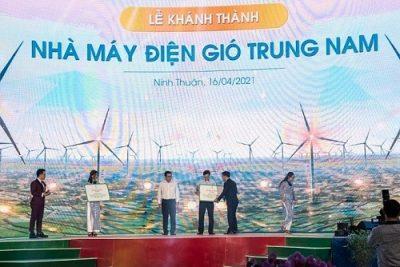 Khánh thành nhà máy điện gió Trung Nam lớn nhất cả nước