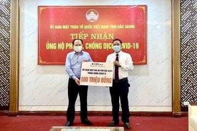 Tập đoàn Kosy trao tặng 3 tỷ đồng ủng hộ Quỹ vắc xin phòng Covid-19 Việt Nam