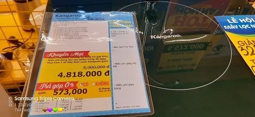 """Sản phẩm Máy lọc nước Kangaroo """"quảng cáo một đằng, thực tế một nẻo"""" ???"""