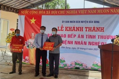 """Huyện Đắk Song (Đắk Nông): Khánh thành bếp ăn tình thương """"Vì bệnh nhân nghèo"""""""