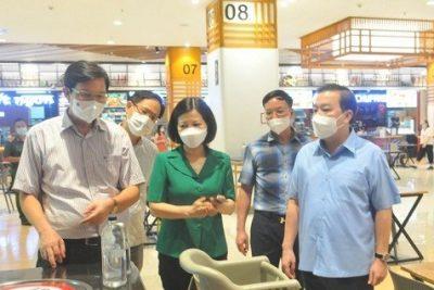 Hà Nội: Kiểm tra công tác phòng chống dịch Covid-19 tại các trung tâm thương mại