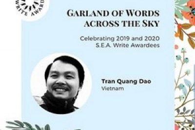 Tiến sĩ, Nhà thơ Trần Quang Đạo đoạt Giải thưởng Văn học ASEAN