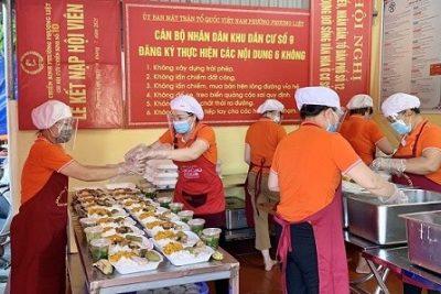 Các khu cách ly tại quận Thanh Xuân có đảm bảo an toàn thực phẩm?