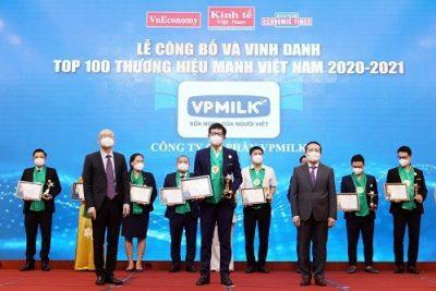 VPMILK tự hào là Top 100 thương hiệu mạnh Việt Nam 2021